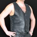 Leather vest m01
