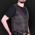 Leather vest m01 k brown