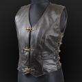 Leather vest m05k olive