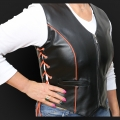 Leather vest m05o
