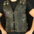 Leather vest m14 olive