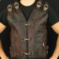 Leather vest m14 sa brown