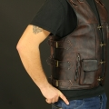 LLeather vest M17 brown