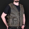 Leather vest m17 olive