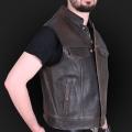 Leather vest M18 brown