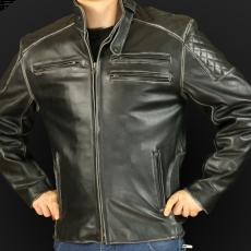 Kurtka motocyklowa k25 czarna przecierana