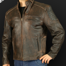 Motorcycle jacket K 25 sa brown