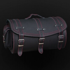 Leather motorcycle roll bags